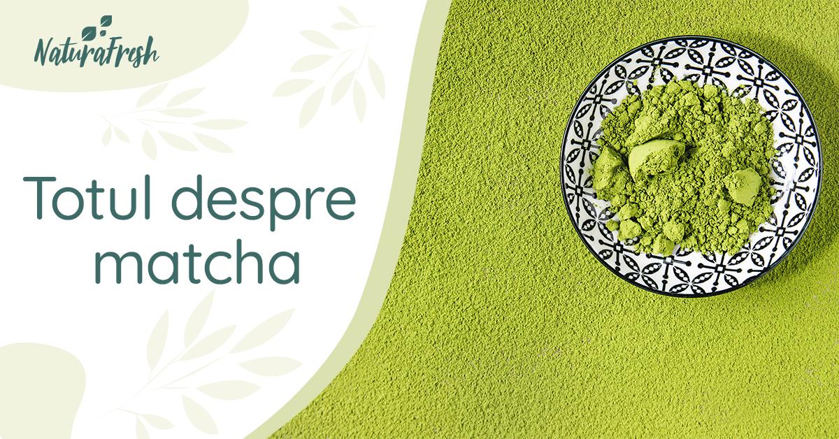 Totul despre matcha – 5 beneficii și recomandări pentru un plus de sănătate - NaturaFresh - Matcha