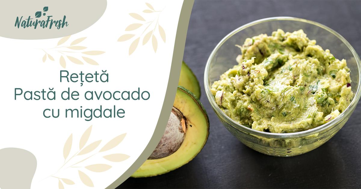 Rețetă avocado Pastă de avocado cu migdale - Natura Fresh - Sugestie de servire