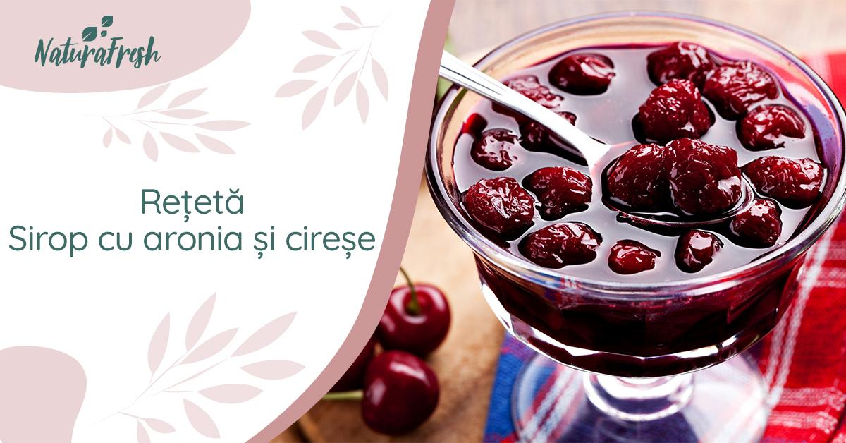 Rețetă sirop cu aronia și cireșe - NaturaFresh - Sugestie de servire sirop cu aronia și cireșe