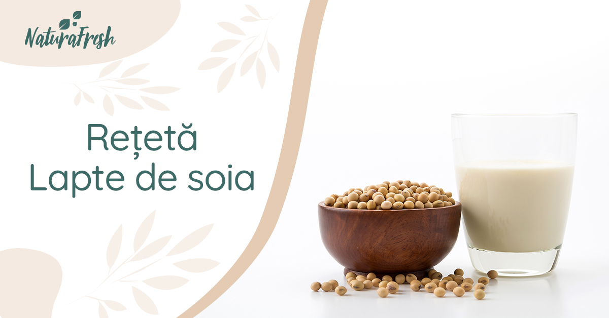 Lapte de soia rețetă - NaturaFresh - Lapte de soia