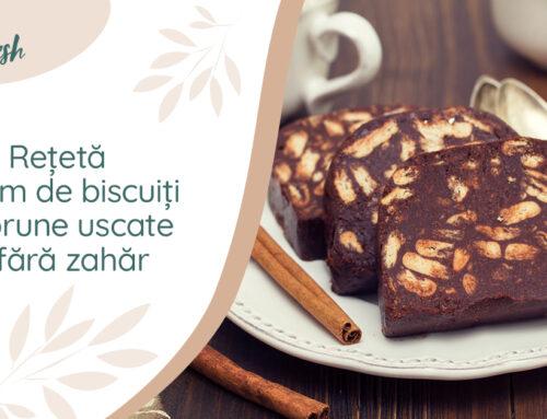Rețetă – Salam de biscuiți cu prune uscate și fără zahăr