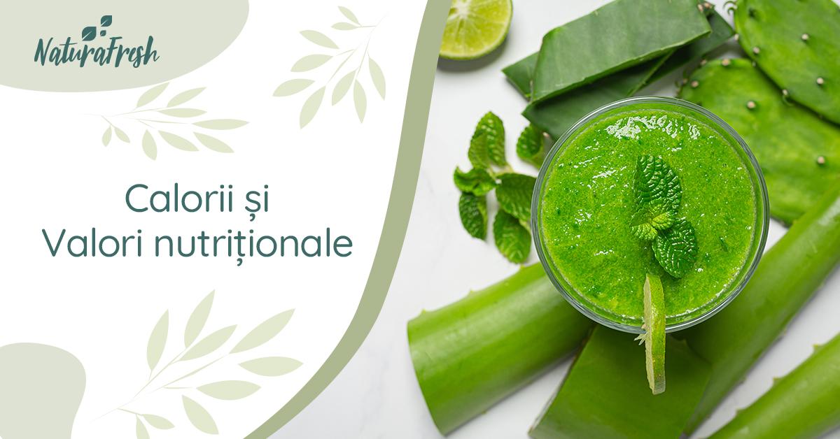 Totul despre Aloe Vera 10 beneficii și moduri de folosire - NaturaFresh - Calorii și valori nutriționale