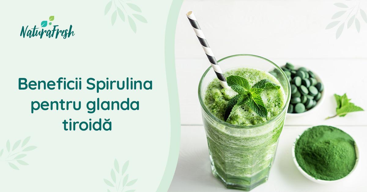 Beneficii Spirulina pentru glanda tiroida - NaturaFresh - Smoothie cu spirulină