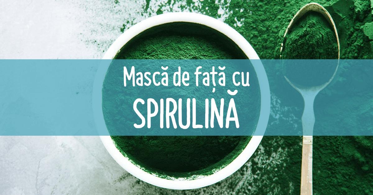 Cosmetice cu Spirulina pentru piele întinerită - NaturaFresh - Mască de față cu spirulină