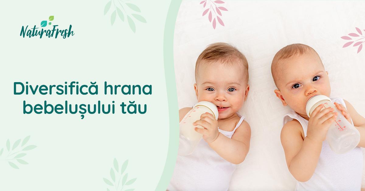 Diversifică hrana bebelușului tău - NaturaFresh - Copii beau lapte