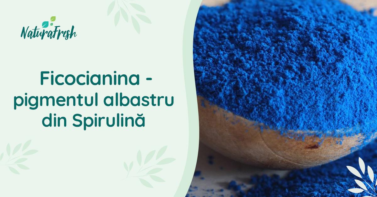 Ficocianina pigmentul albastru din Spirulină - NaturaFresh - Ficocianina