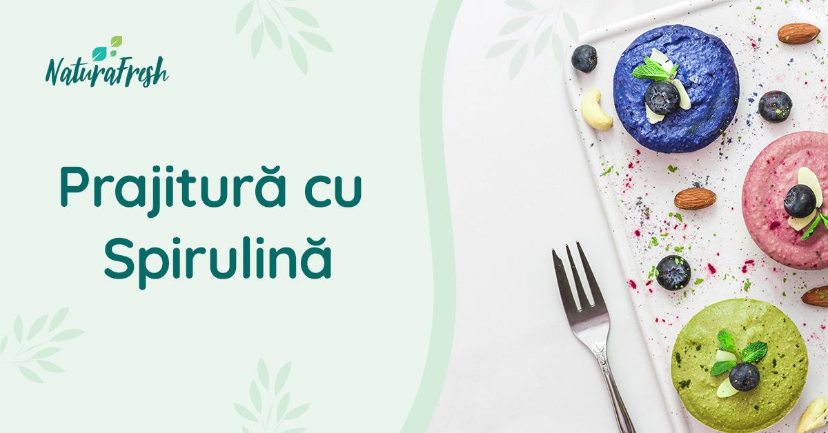 Prajitură cu Spirulină - NaturaFresh - Sugestie de servire