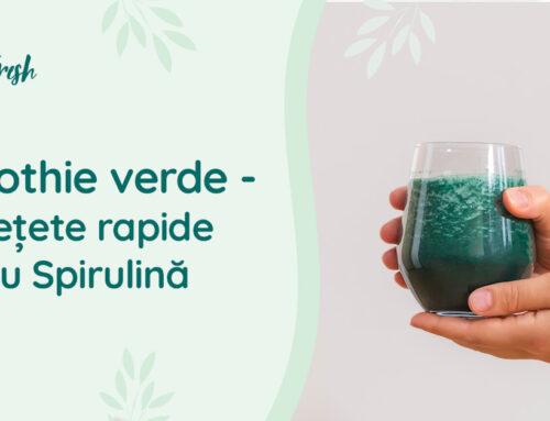 Smoothie verde – 3 rețete rapide cu Spirulină