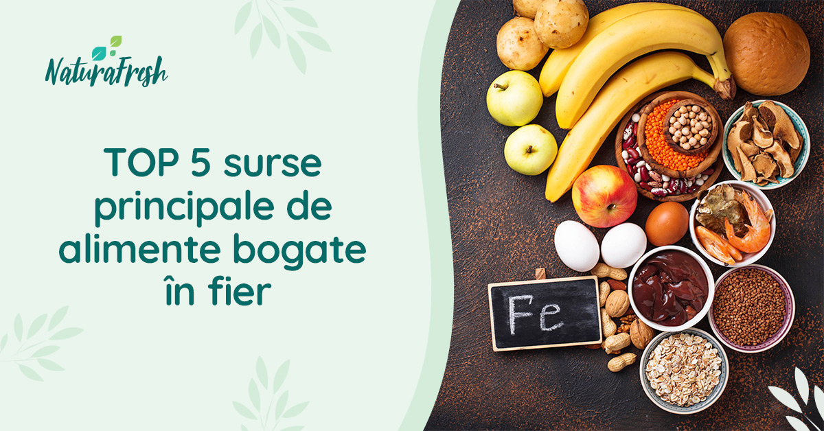 Top 5 surse principale de alimente bogate în fier - NaturaFresh - Alimente bogate în fier